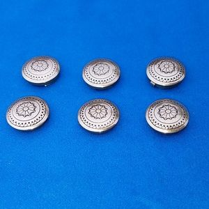 Jewelry - 6 Vintage Button Covers Southwestern Boho style